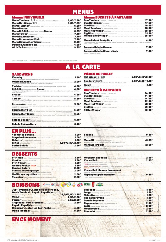 Cafe La Mode Menu